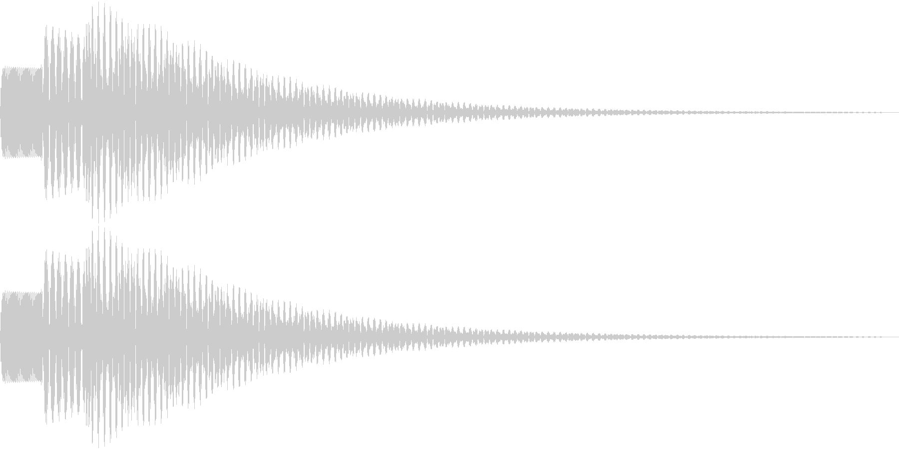 ピロン(メニュー等の選択音)の未再生の波形