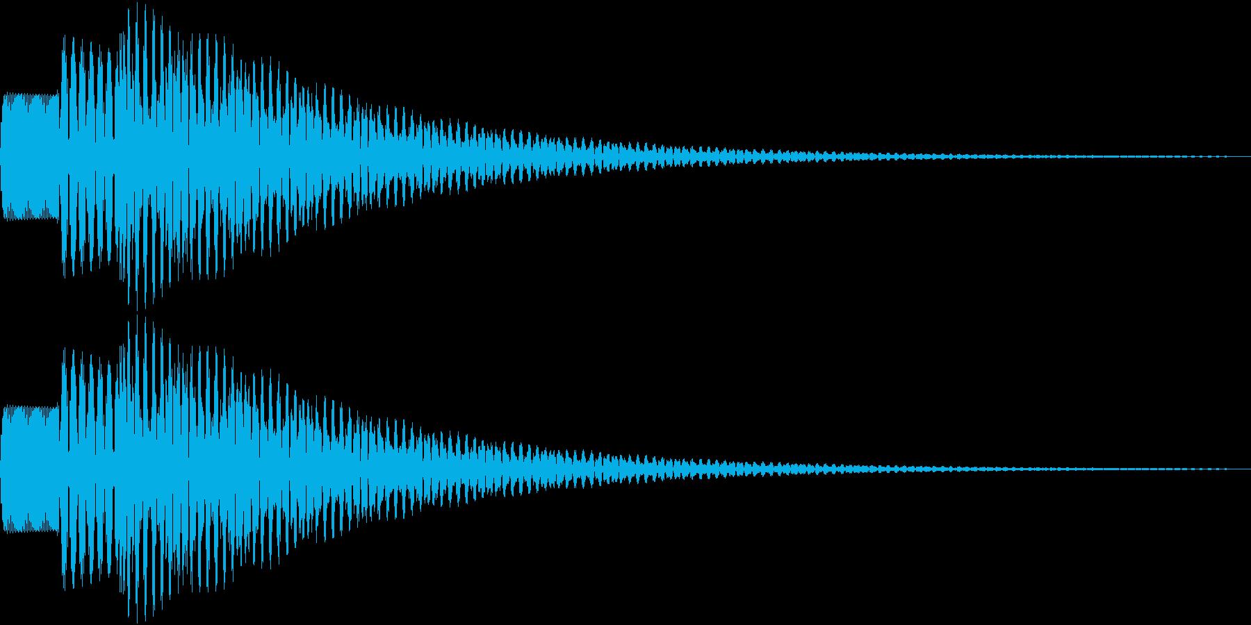 ピロン(メニュー等の選択音)の再生済みの波形