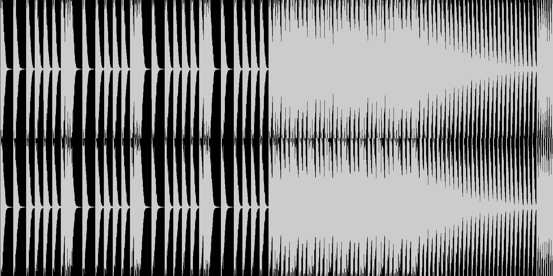 EDM スネアロールです。の未再生の波形