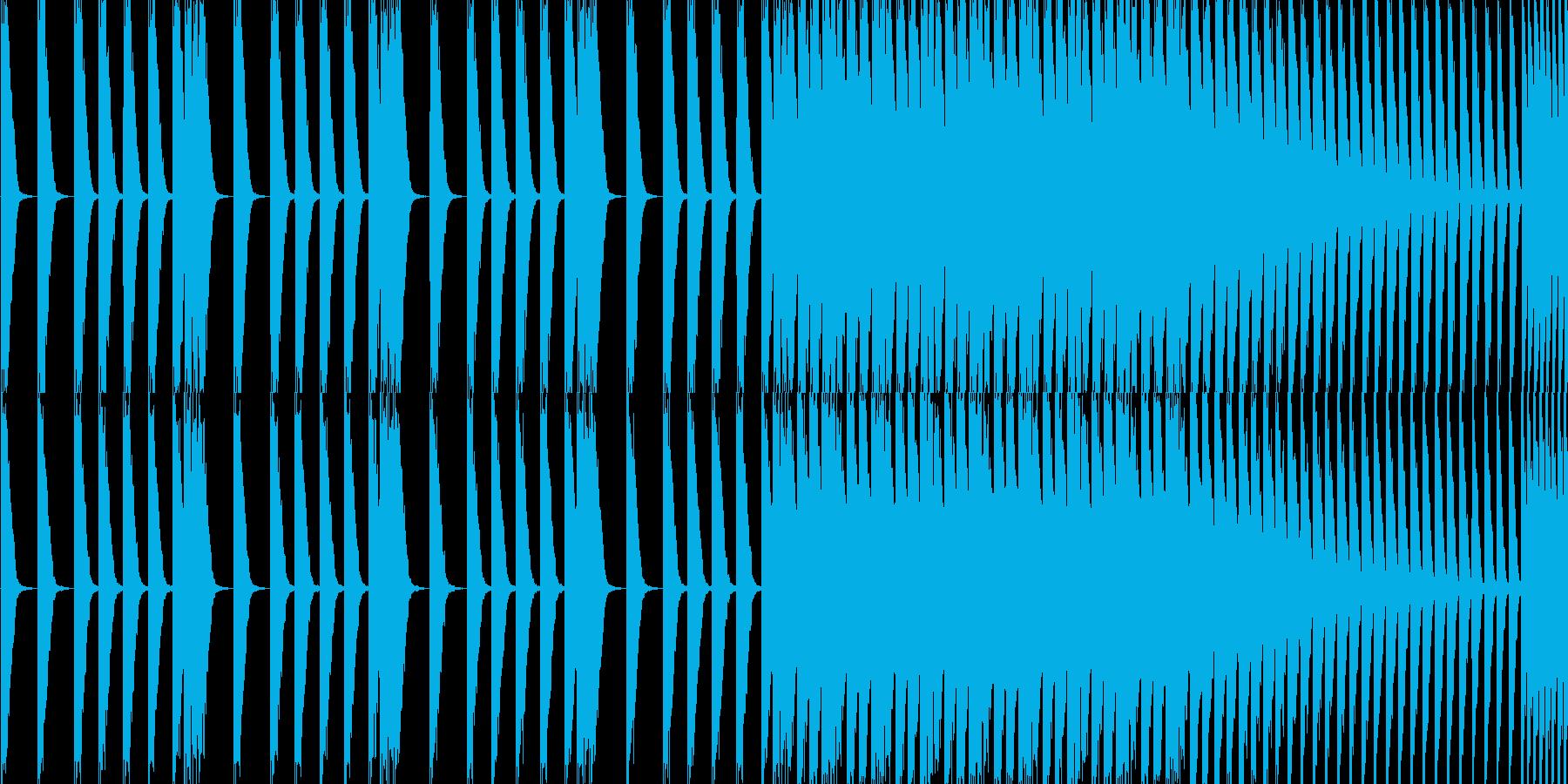 EDM スネアロールです。の再生済みの波形