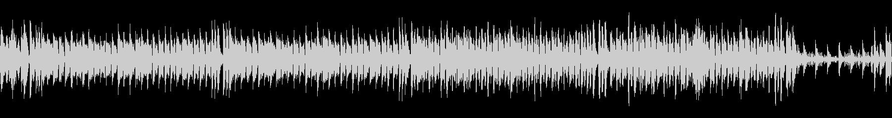 コミカルなアップテンポのBGMの未再生の波形