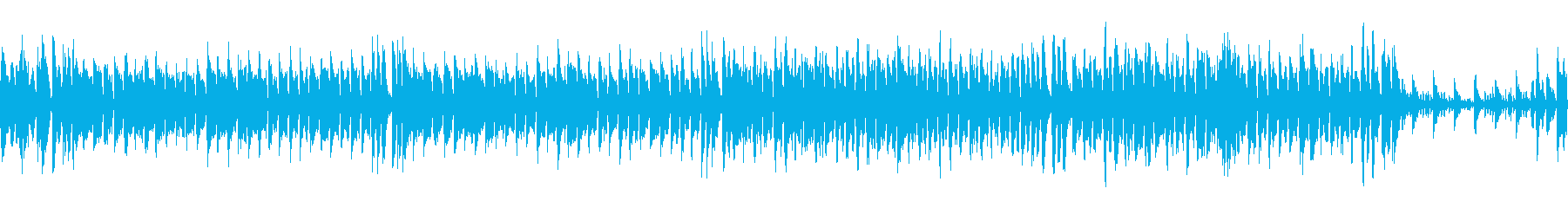 コミカルなアップテンポのBGMの再生済みの波形
