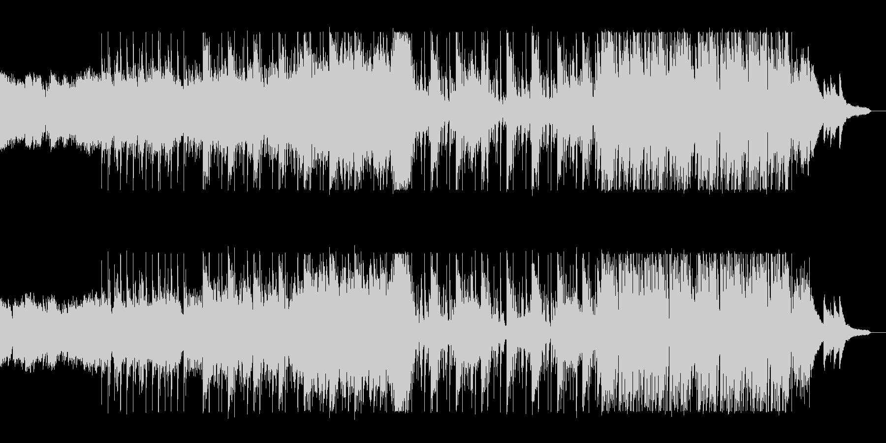 ピアノの音色が綺麗で幻想的な曲の未再生の波形