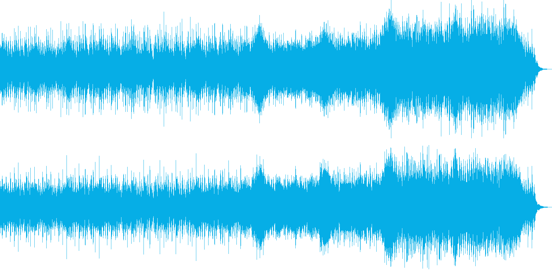 普段の生活で使える慌ただしいBGMの再生済みの波形