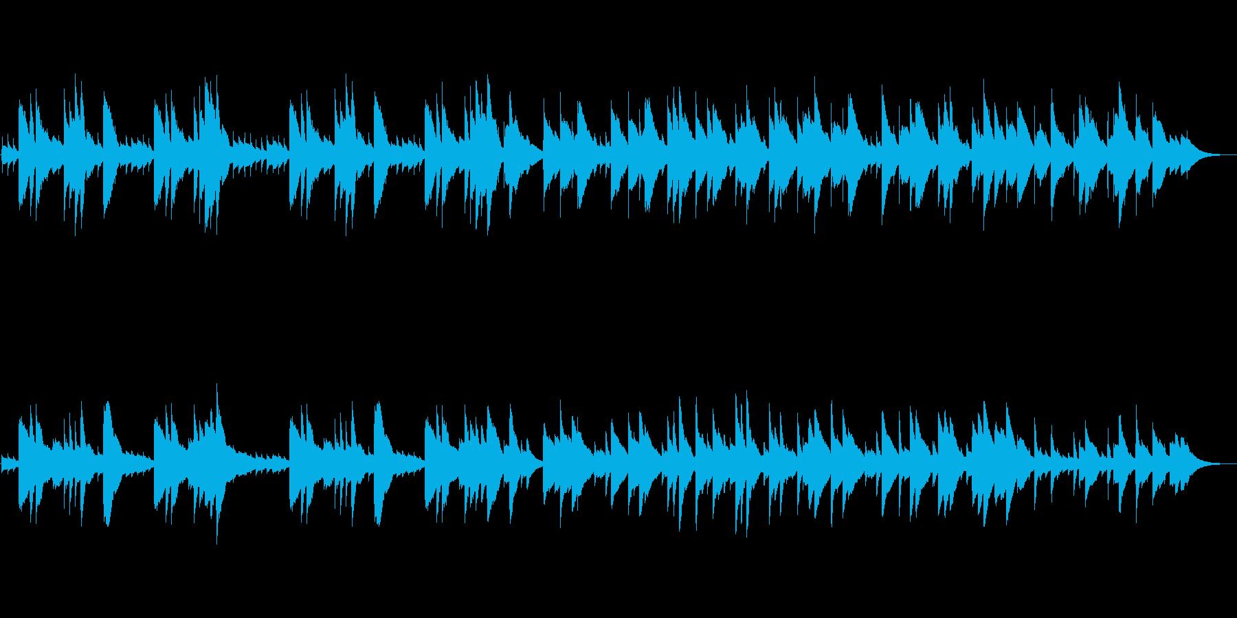 回想や思い出をイメージしたオルゴール曲の再生済みの波形