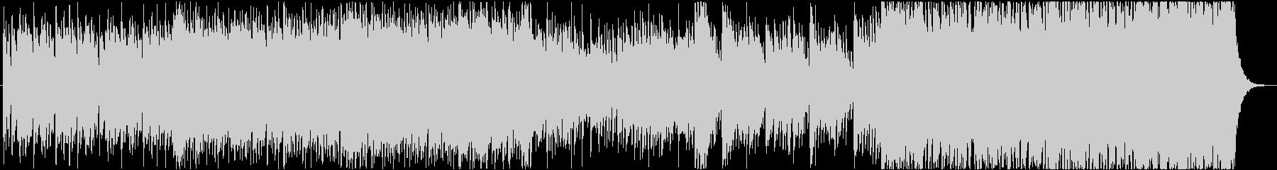 中華楽器メインの激しいBGMの未再生の波形