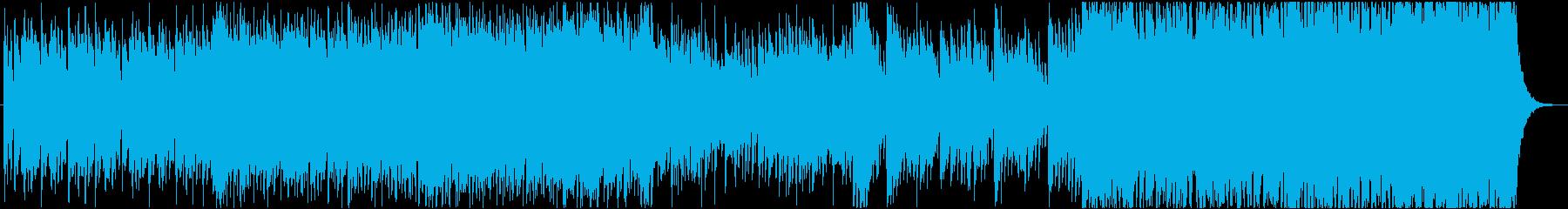 中華楽器メインの激しいBGMの再生済みの波形
