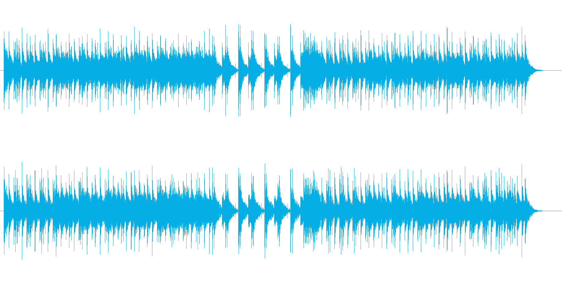 【Samurai Battle】和楽器の再生済みの波形