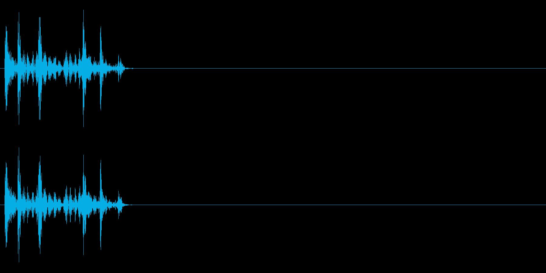 決定音(カシャリ)の再生済みの波形