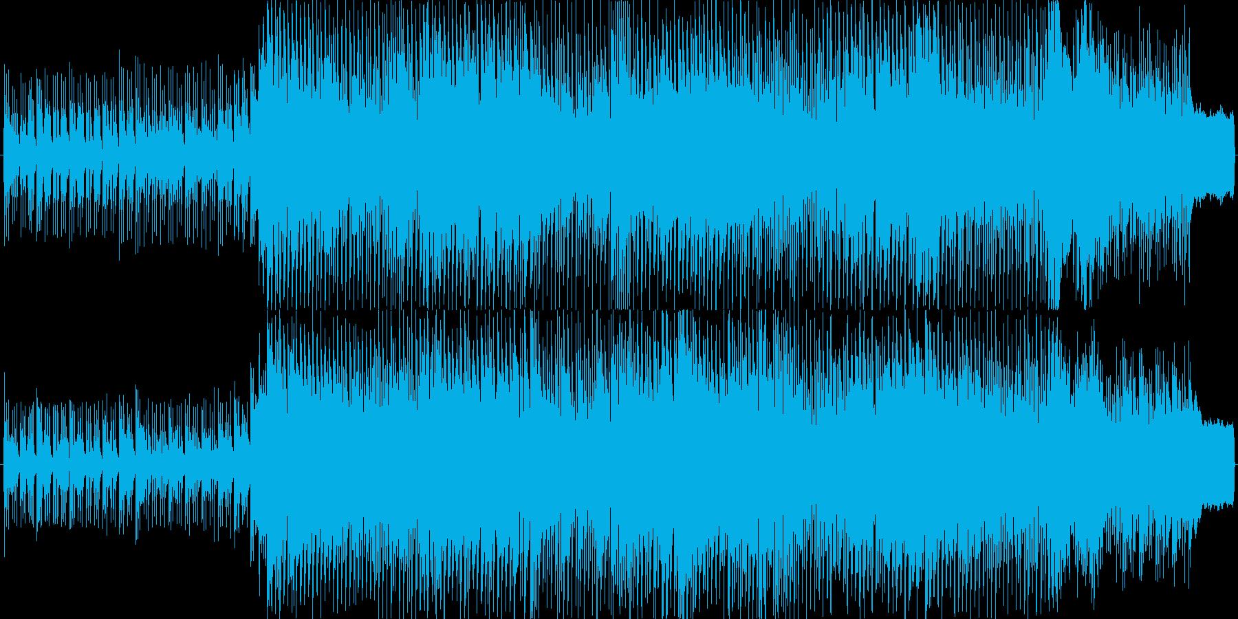 ミディアムテンポで楽しい感じのポップスの再生済みの波形