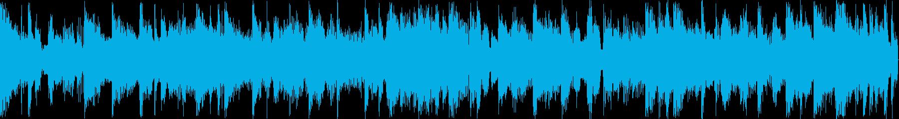 リズムとベースが絡み合うシンセサウンド…の再生済みの波形