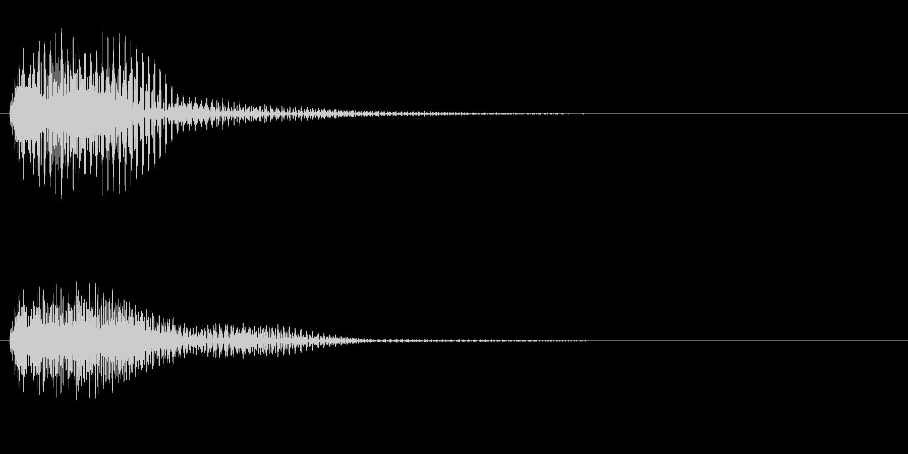 軍隊3 スタート音 豪華決定音の未再生の波形