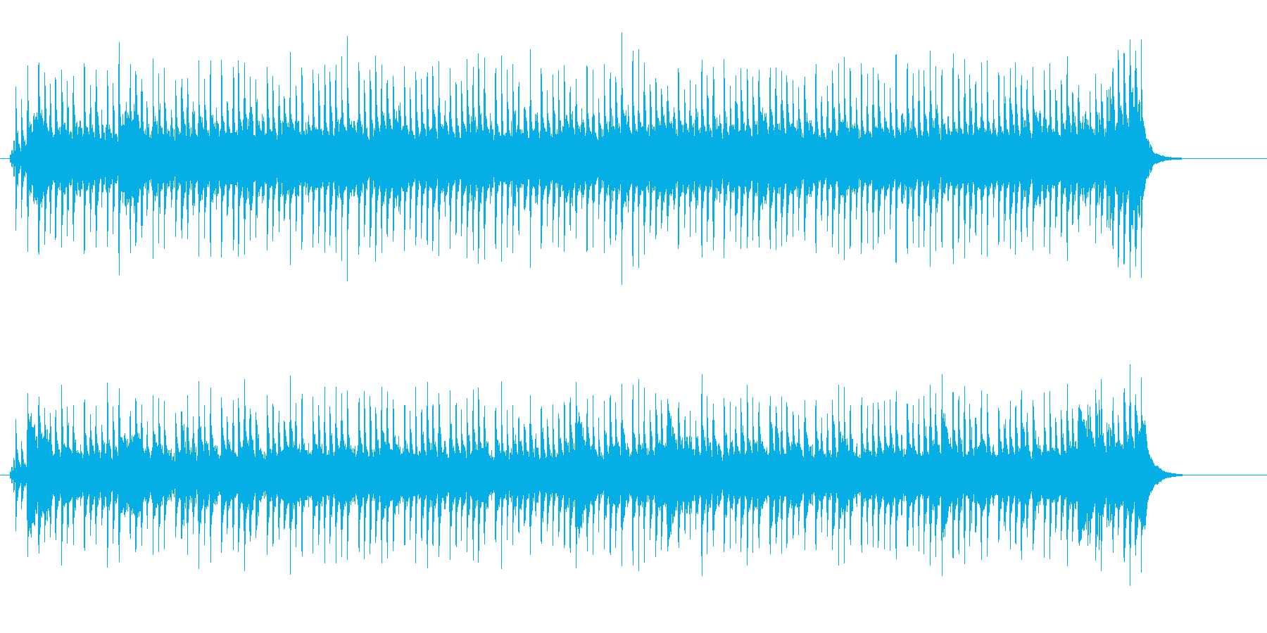 コミカルなほのぼのポップの再生済みの波形