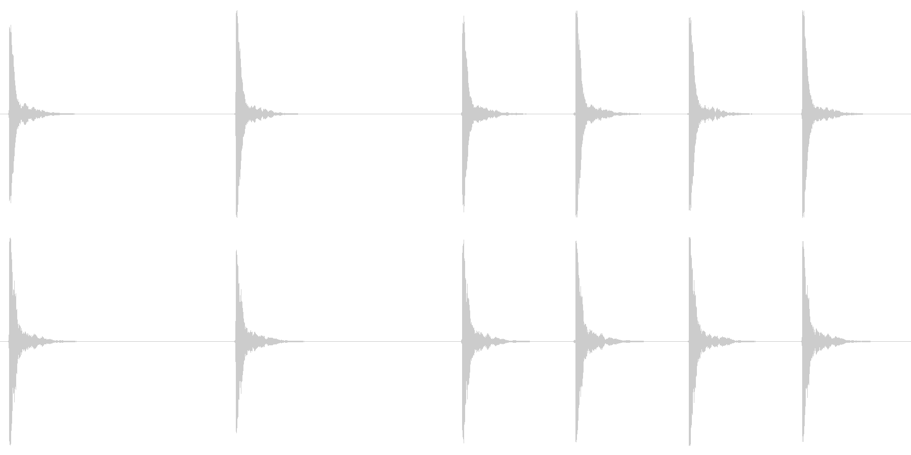 カウントダウン(カウベル)の未再生の波形