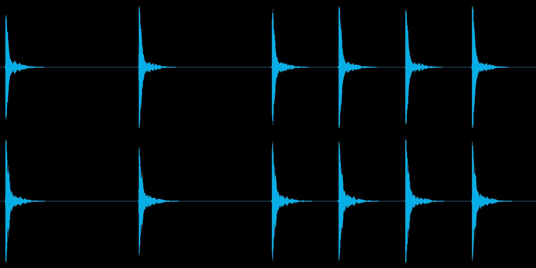 カウントダウン(カウベル)の再生済みの波形