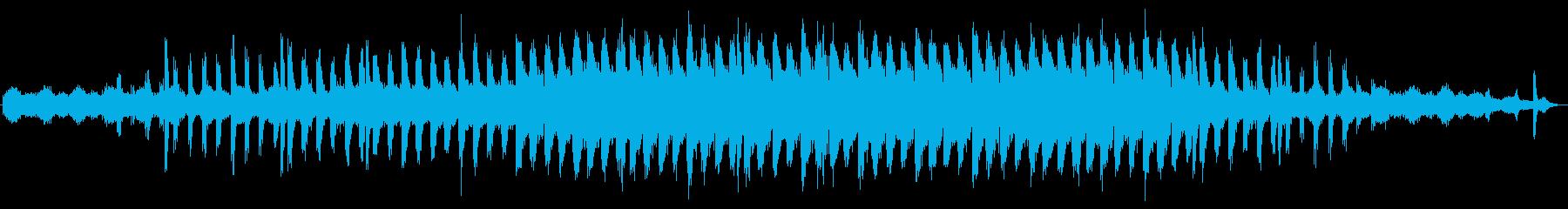 緊張感あるビートアクセントの効くテクノの再生済みの波形