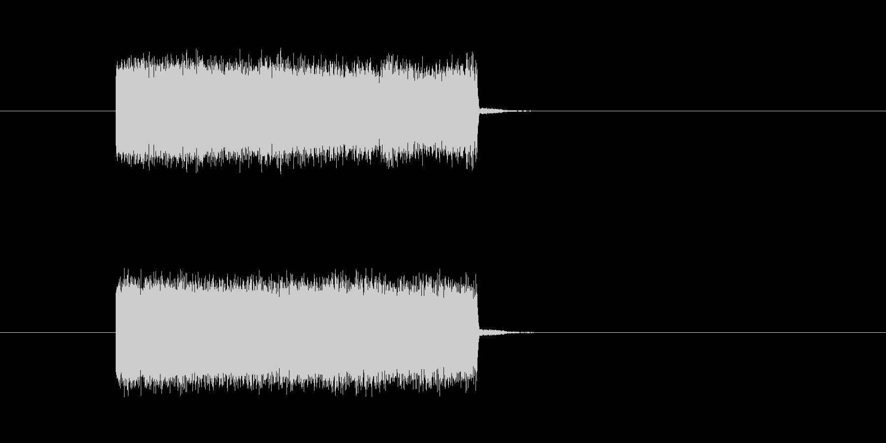 テレビ・ラジオのノイズ音の未再生の波形