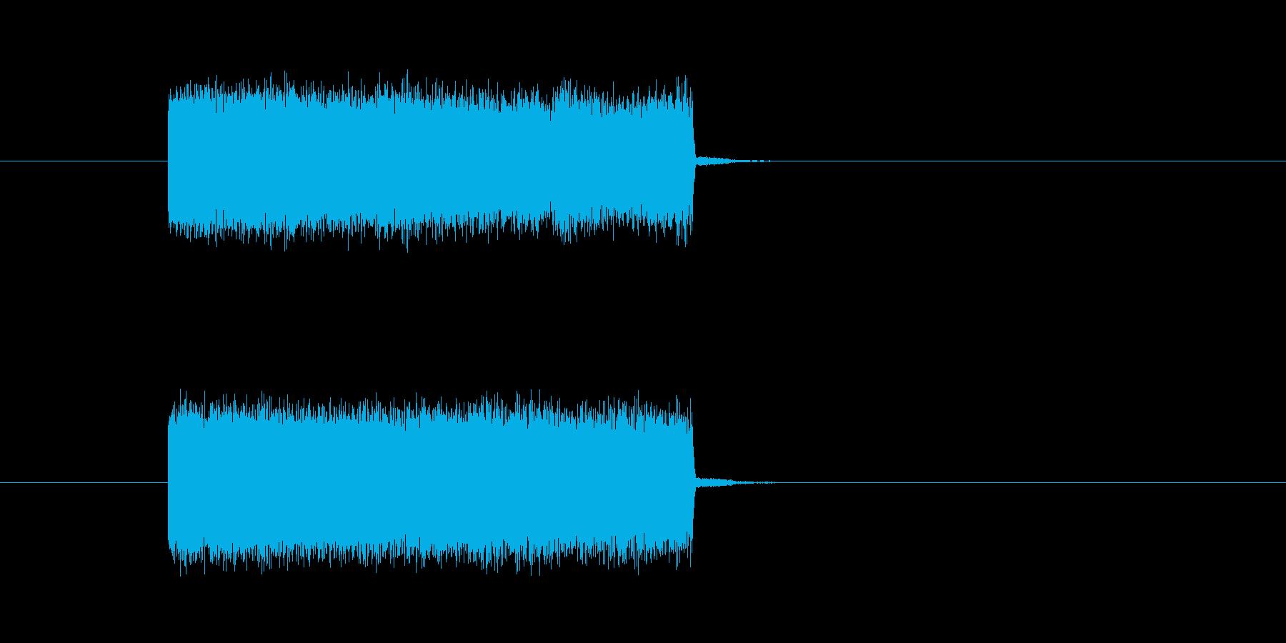 テレビ・ラジオのノイズ音の再生済みの波形