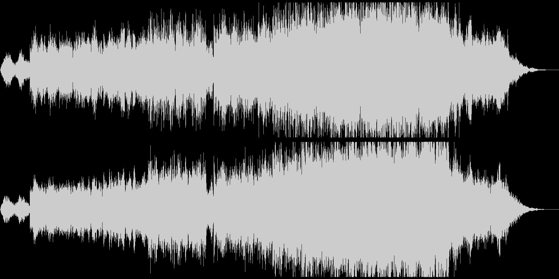 温かく感動的な映像、CMにの未再生の波形