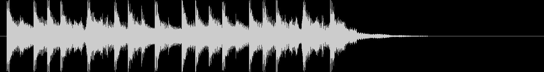 ラジオに合う爽やかポップジングルの未再生の波形