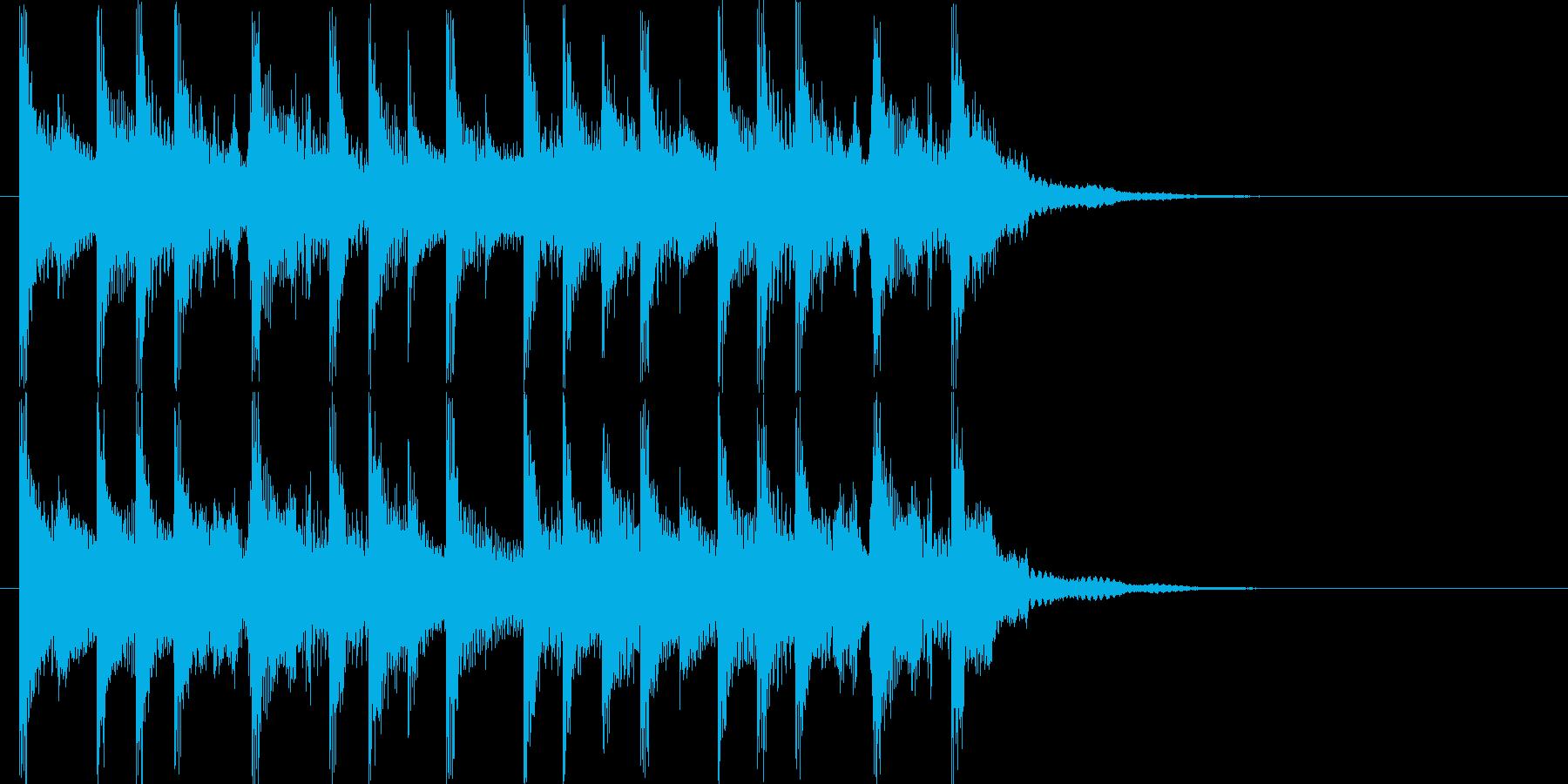 ラジオに合う爽やかポップジングルの再生済みの波形
