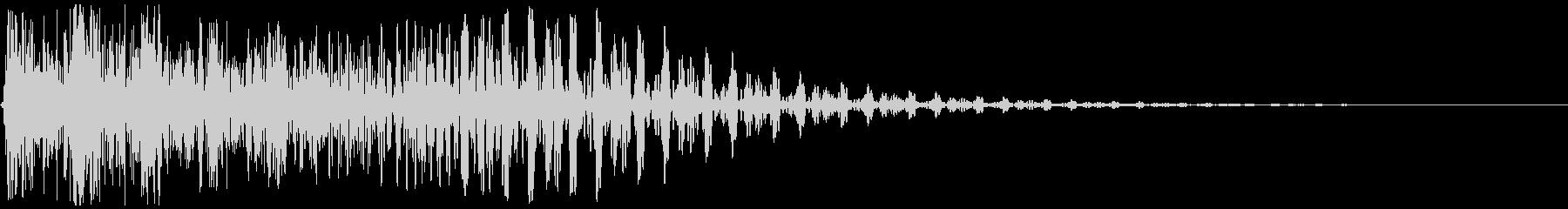 タップ、クリック、キャンセル(音圧高め)の未再生の波形