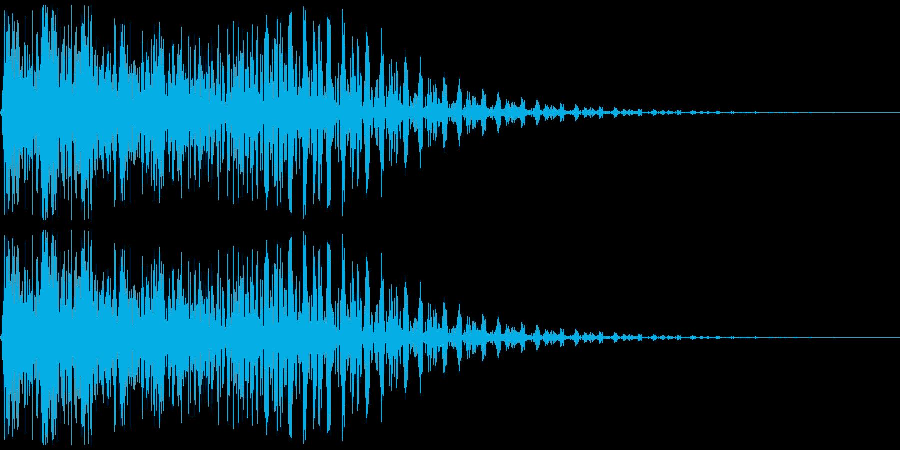 タップ、クリック、キャンセル(音圧高め)の再生済みの波形