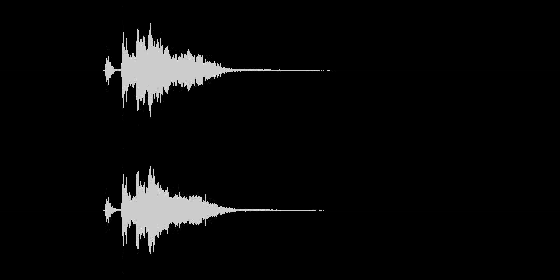 ジャカジャーン(弦、弾く、ギター)の未再生の波形