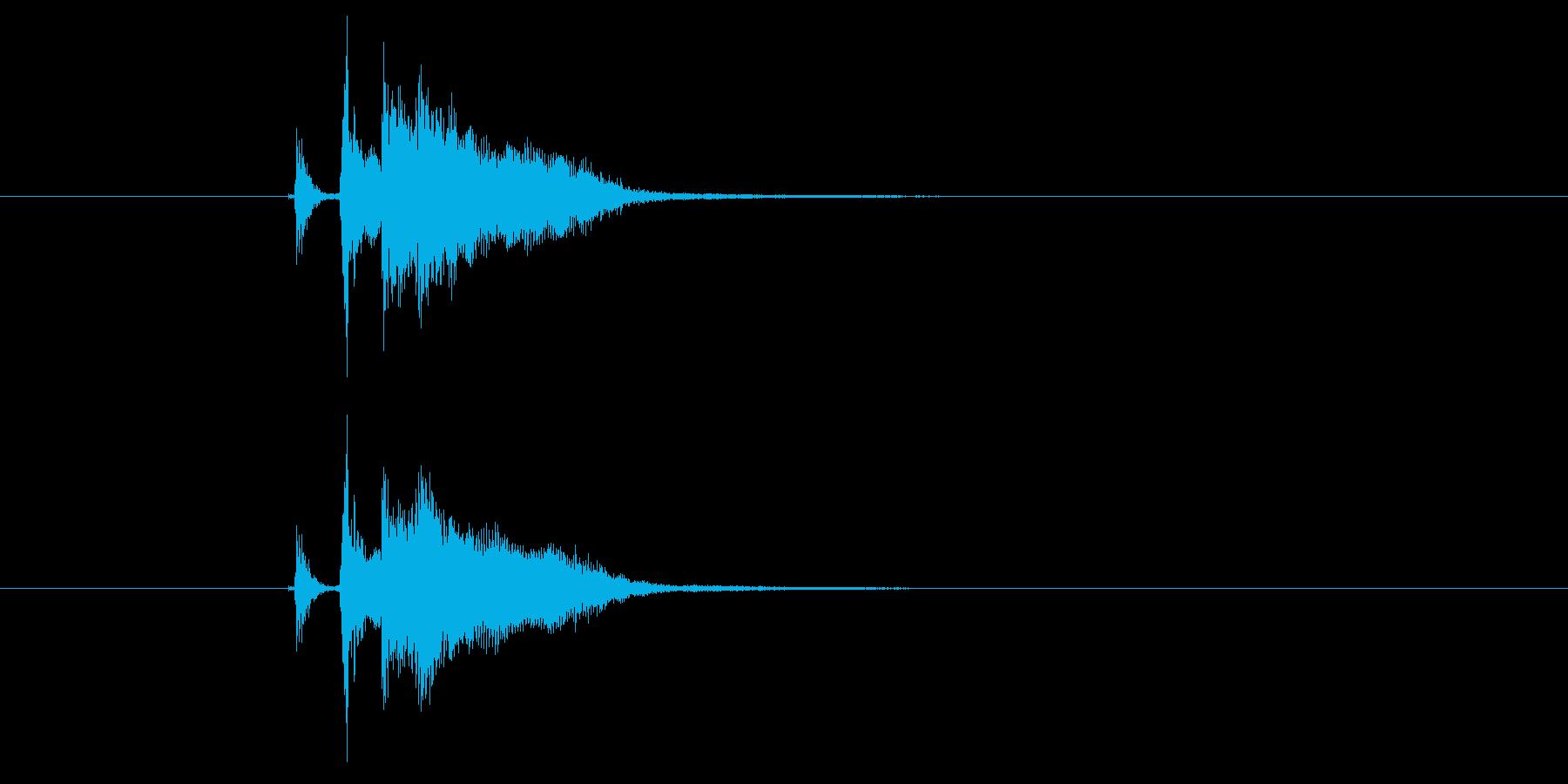 ジャカジャーン(弦、弾く、ギター)の再生済みの波形