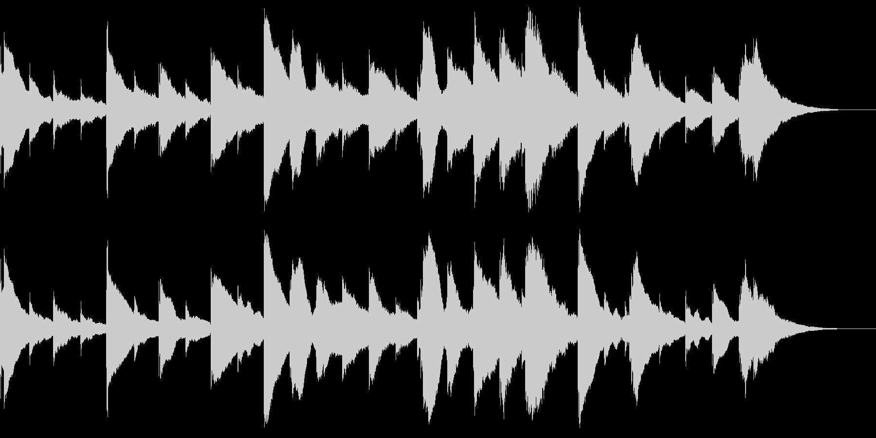 オルゴールが奏でるバラードの未再生の波形