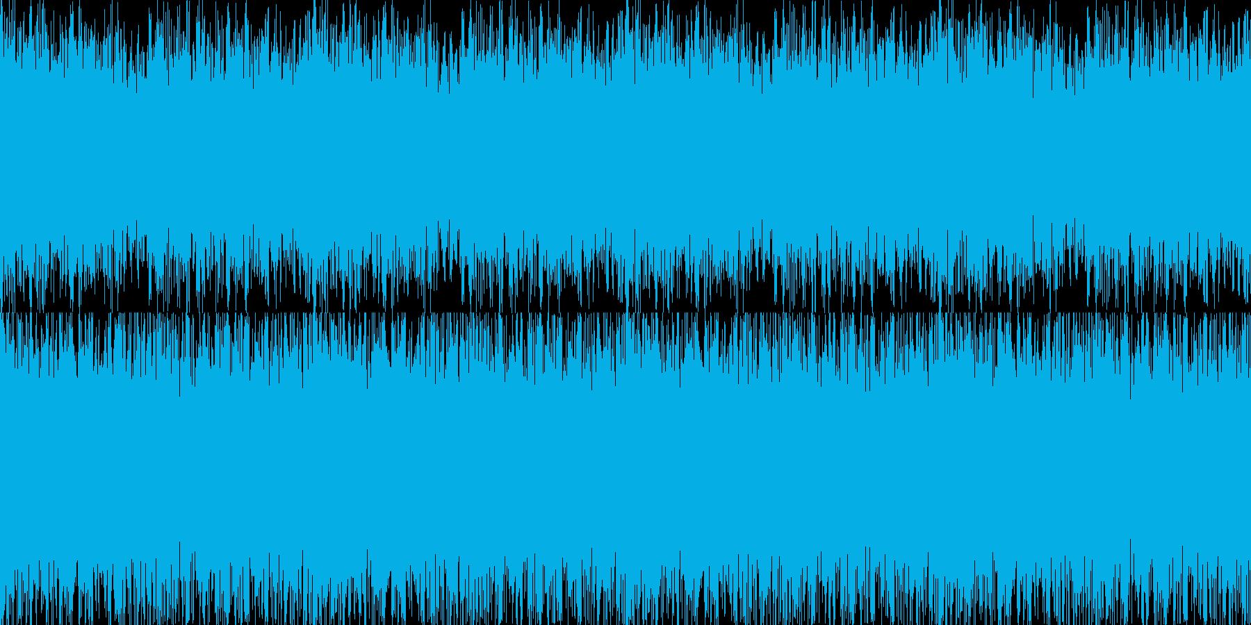 疾走感のあるオーケストラBGMの再生済みの波形