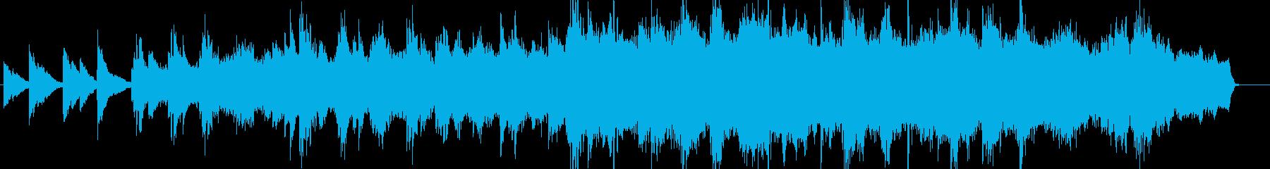 ゆったりとしたピアノが印象的なバラードの再生済みの波形