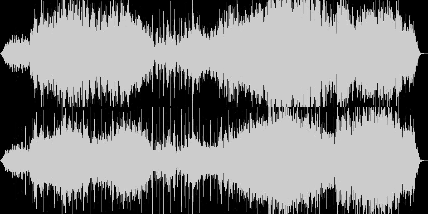 夕暮れ時をイメージした曲の未再生の波形