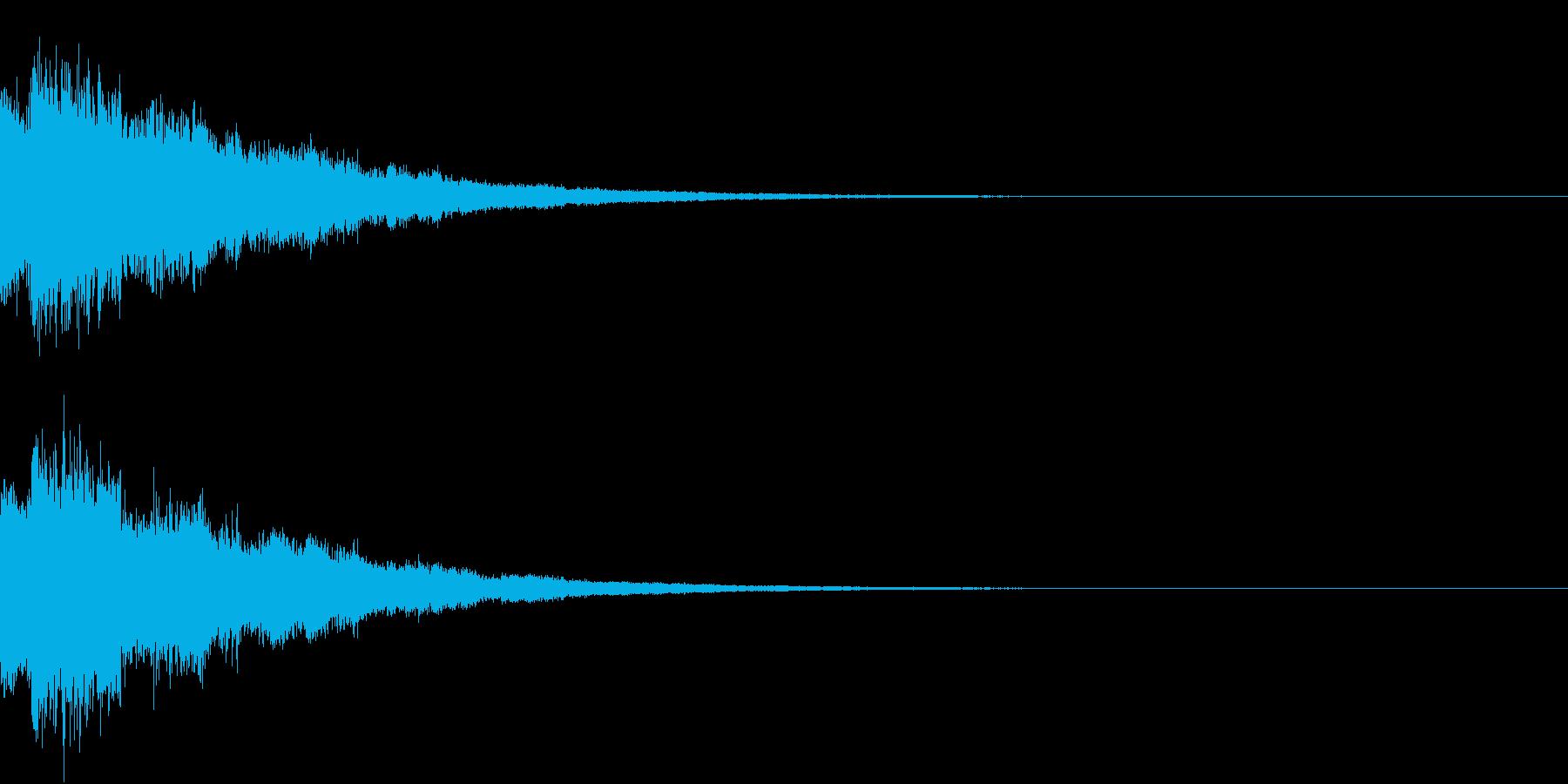 テロップ、ゲームオーバーの再生済みの波形