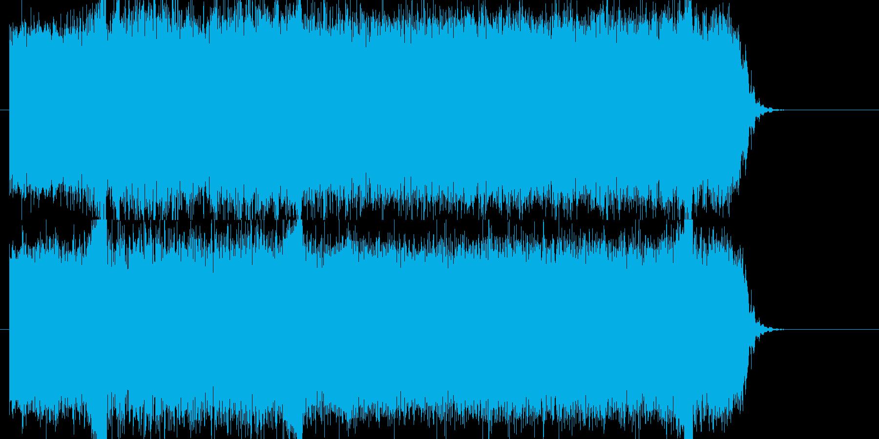 ゲーム向けデシタルロックサウンドロゴの再生済みの波形