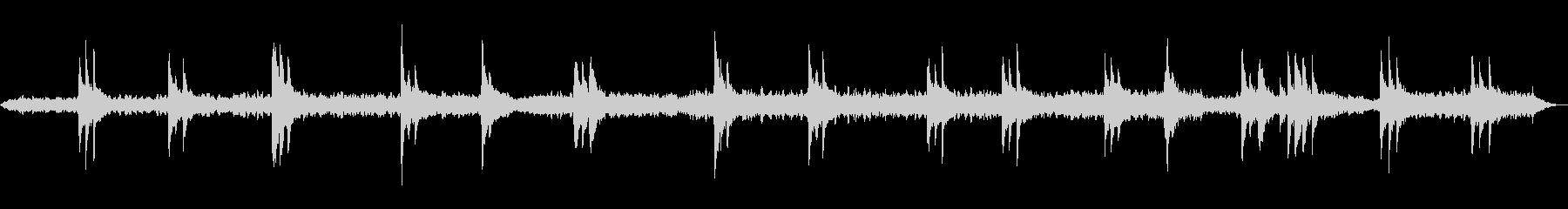 ソルフェジオ周波数を使った癒しのBGMの未再生の波形