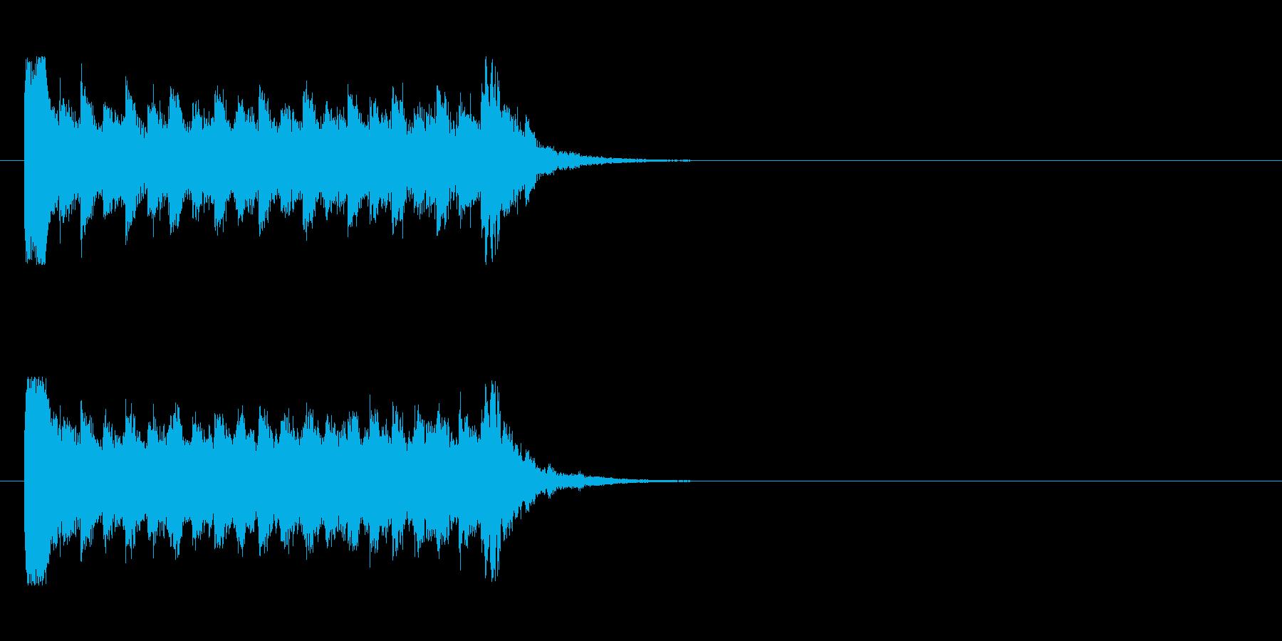 お化け屋敷風のホラージングルの再生済みの波形