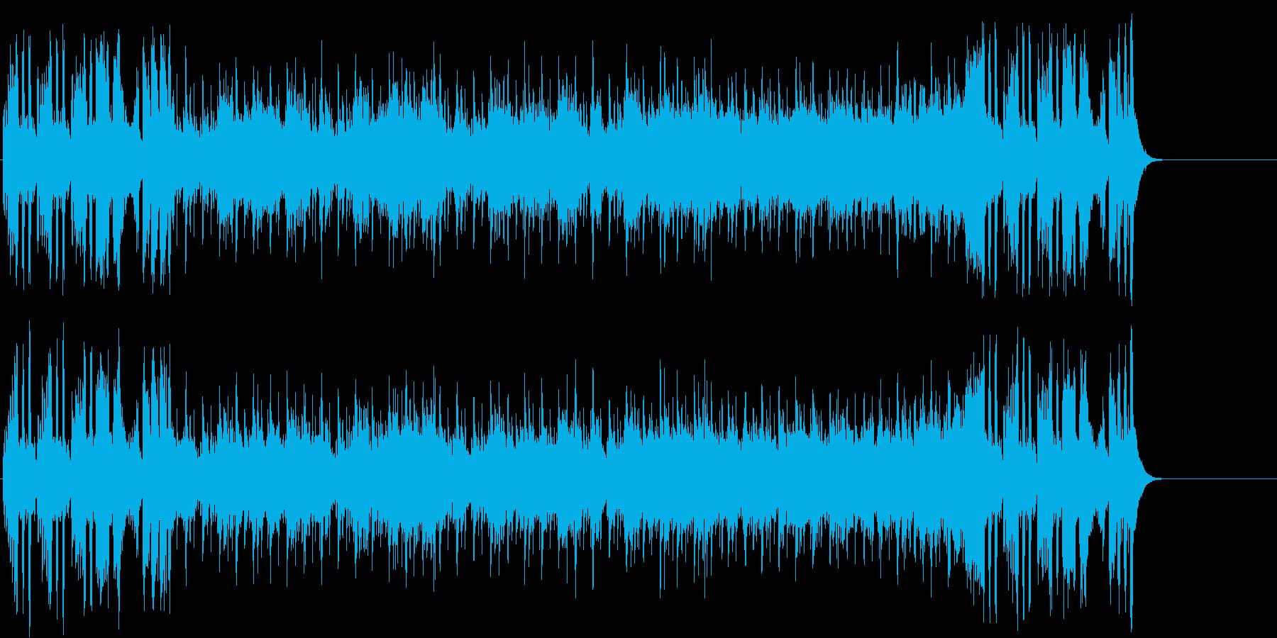 ゆったりしたエンド(イントロ~A~B…)の再生済みの波形