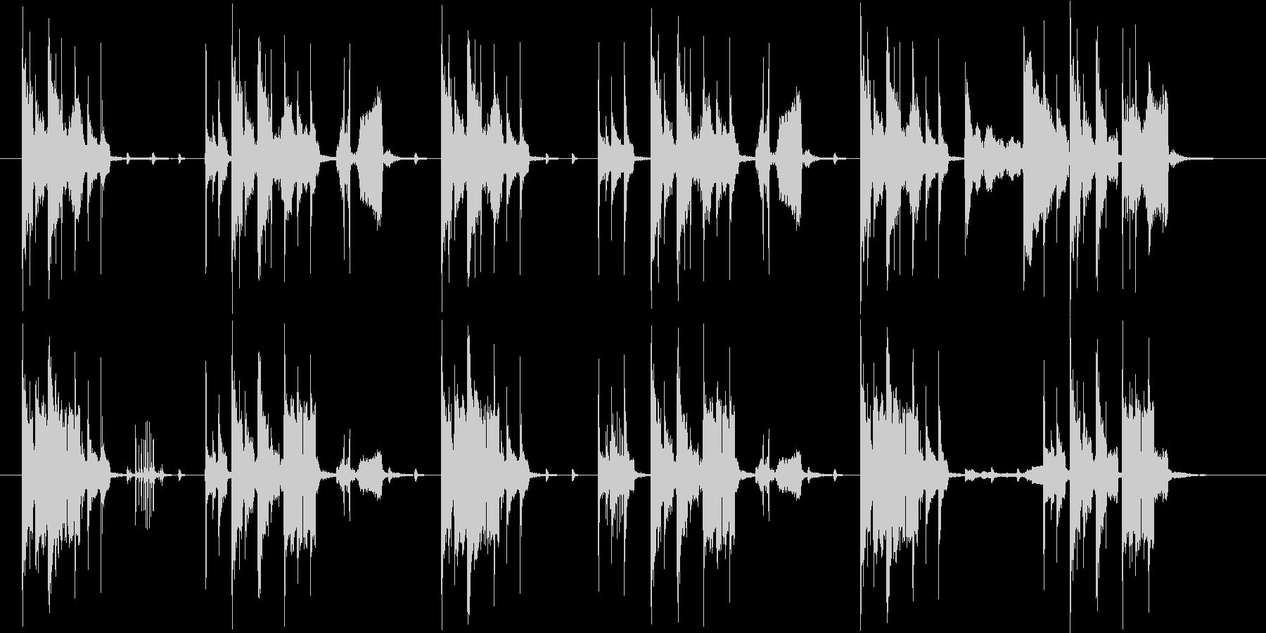 おしゃれでコミカルなシンセサウンドの未再生の波形