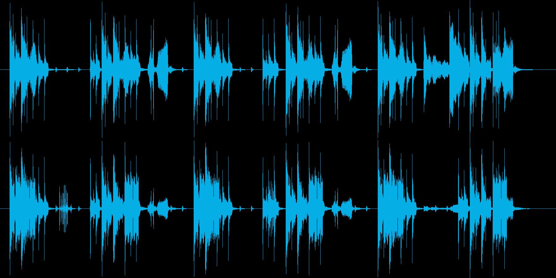 おしゃれでコミカルなシンセサウンドの再生済みの波形