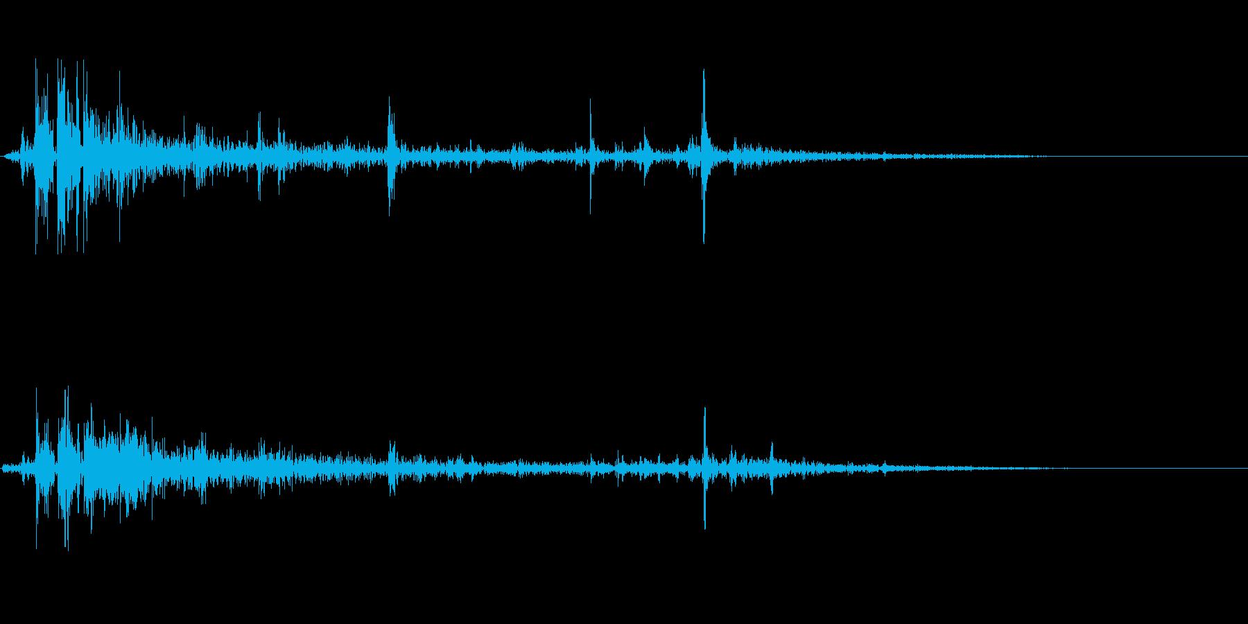 バシャッ(水音)の再生済みの波形
