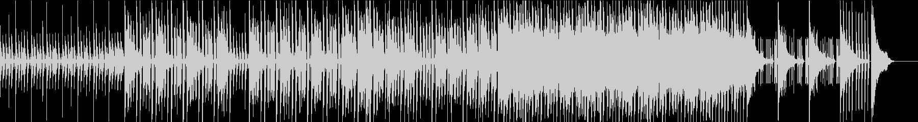 エレクトロな展開してループするBGMの未再生の波形