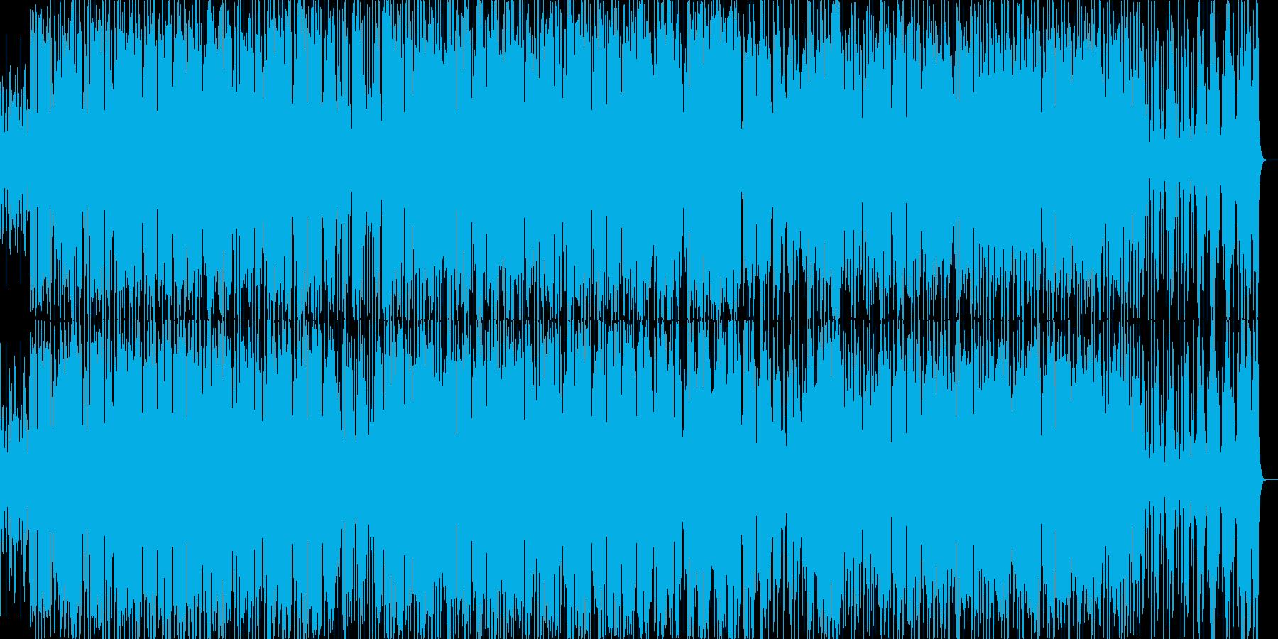 軽快なテクノ、ダンスナンバーの再生済みの波形