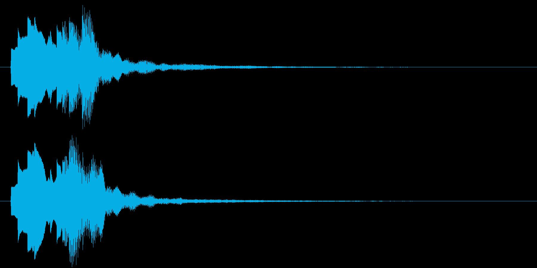 透明感のある爽やかな通知音の再生済みの波形