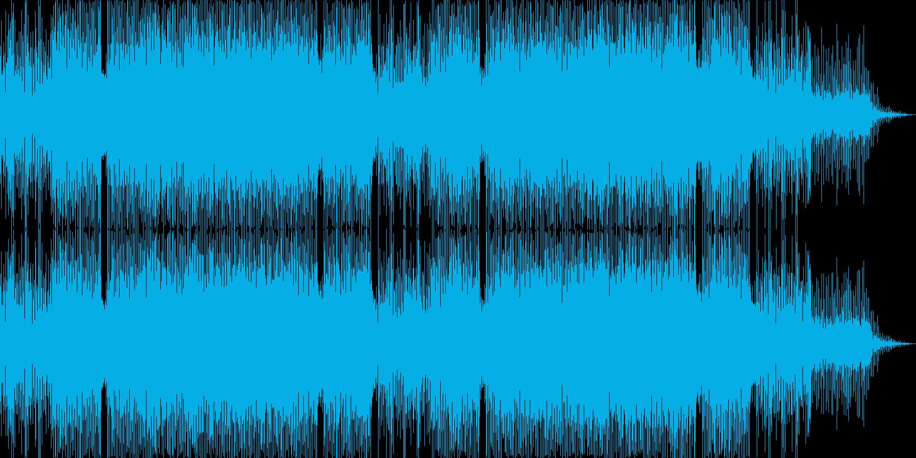 ジャジーなコードのおしゃれムード系ハウスの再生済みの波形