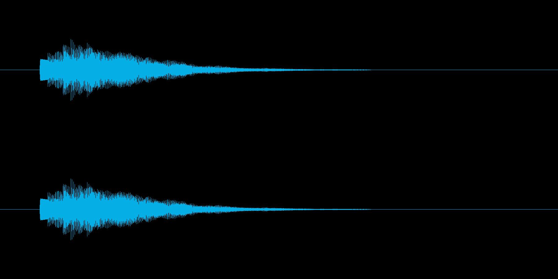 ポップ通知の再生済みの波形