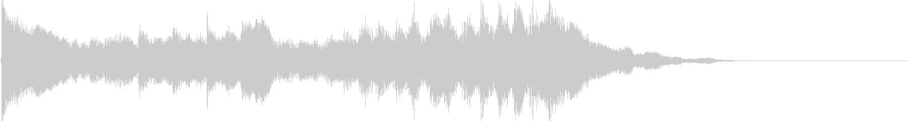 煌びやかなピアノ ジングル サウンドロゴの未再生の波形