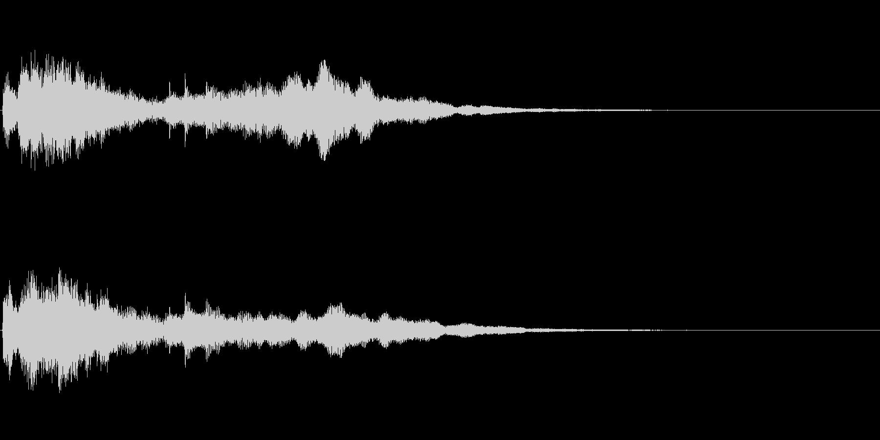 シンセサイザー+トイなジングルの未再生の波形