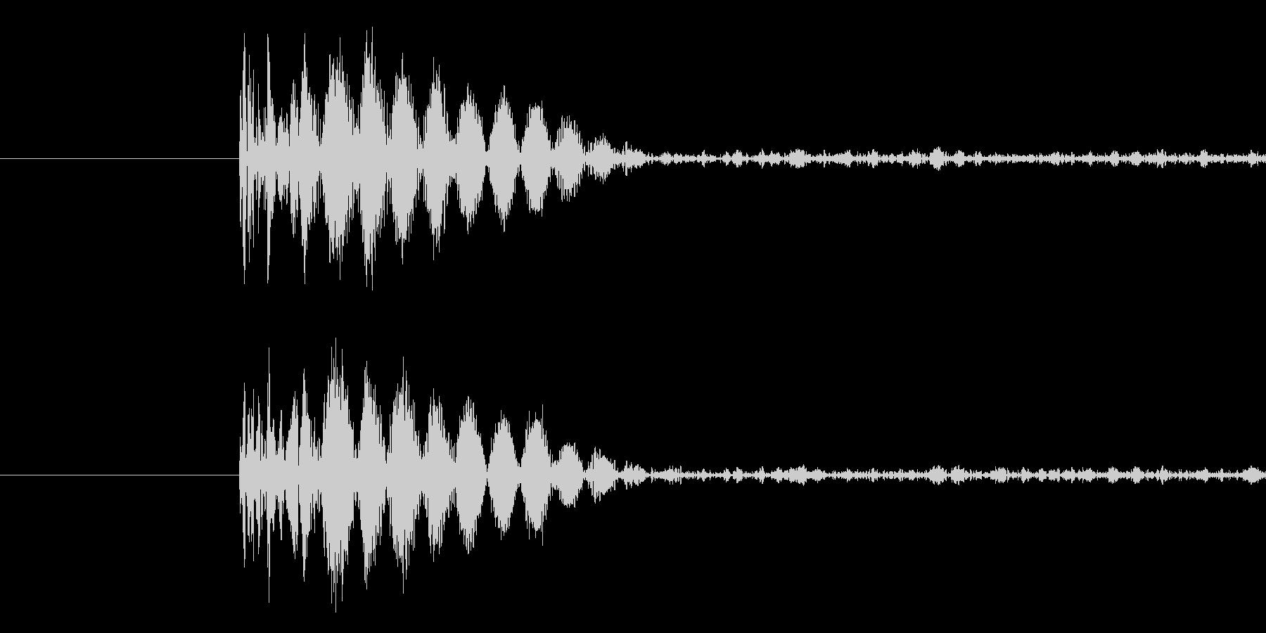バラエティ・ゲーム的なパンチ音の未再生の波形