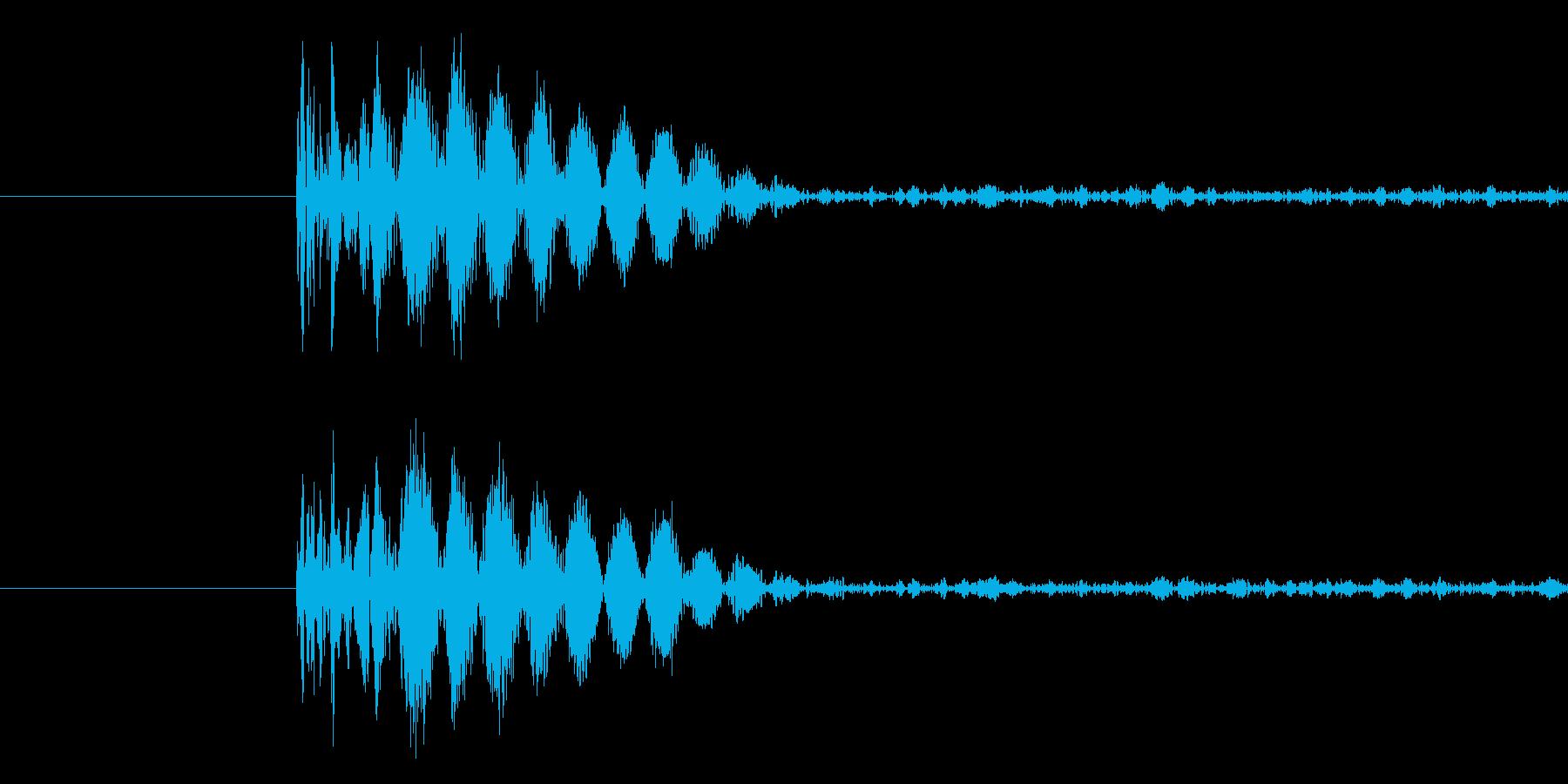 バラエティ・ゲーム的なパンチ音の再生済みの波形